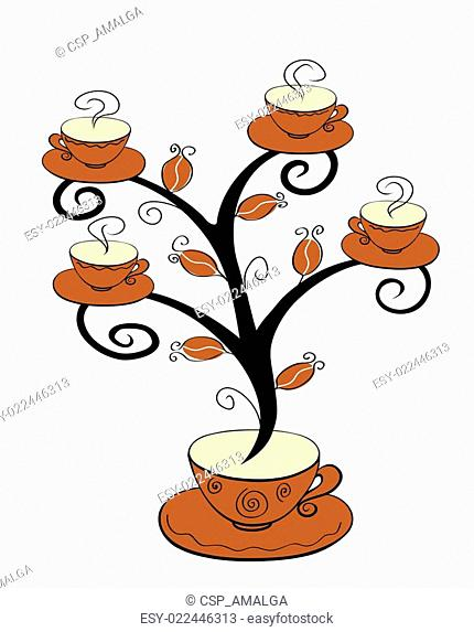 Coffee cups tree 1