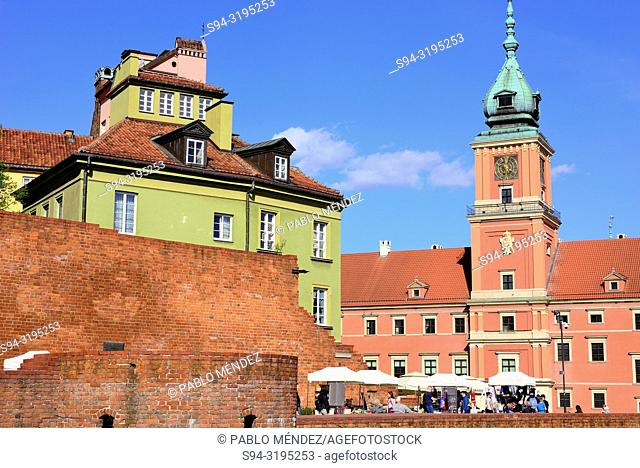 Royal palace or castle of Warsaw, Poland