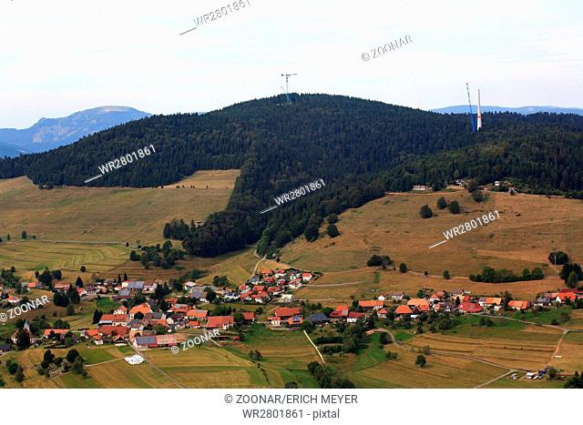 In Gersbach, a district of Schopfheim, the first windpark in the southern Black Forest is errected
