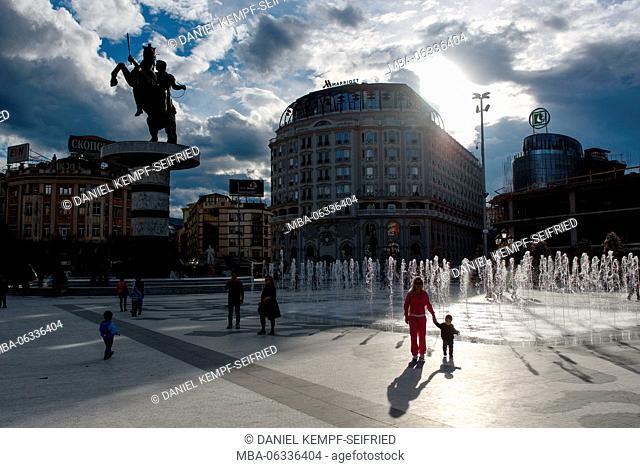 The Macedonia Square in Skopje
