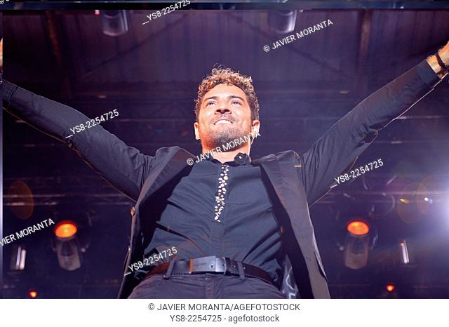 Spanish singer David Bisbal during his first concert of the tour 'You and I', Spain, Balearic Islands, Mallorca, Felanitx, 2014