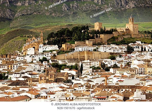 Castle and Alcazaba, Antequera, Malaga Province, Andalusia, Spain