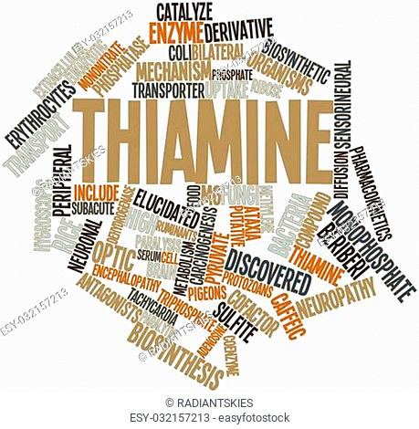 Abstract word cloud for Thiamine with related tags and terms