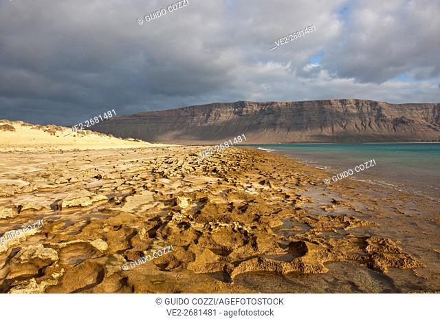 Spain, Canary Islands. La Graciosa . Playa del Salado