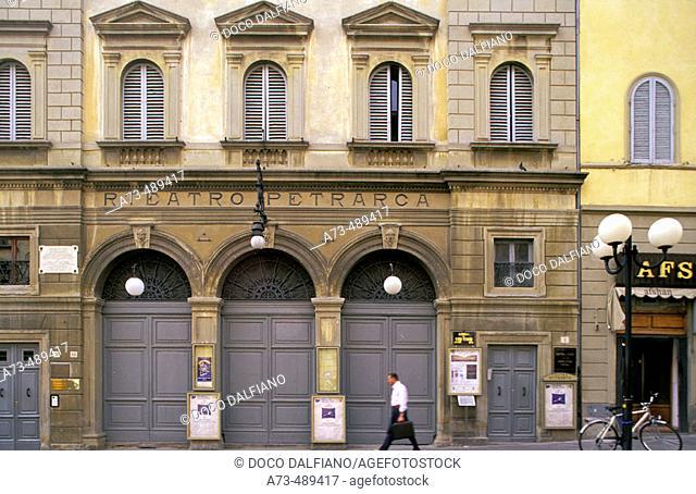 Via G.Monaco, Teatro Petrarca. Arezzo. Tuscany. Italy