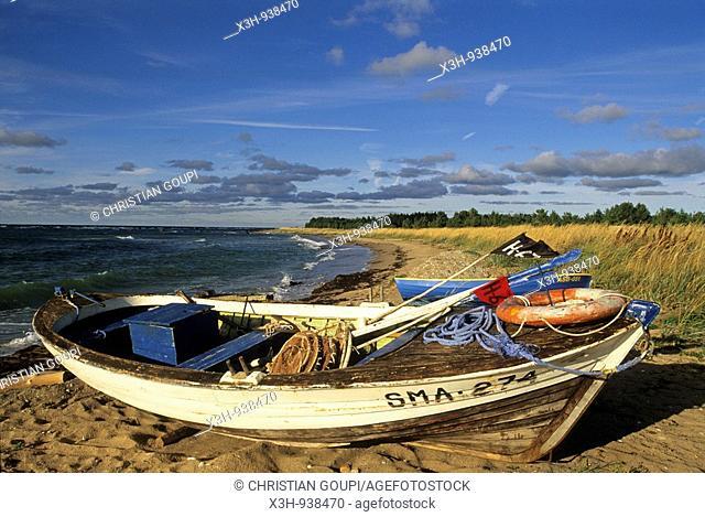 littoral a Panga,ile de Saaremaa,region de Saare,Estonie,pays balte,europe du nord