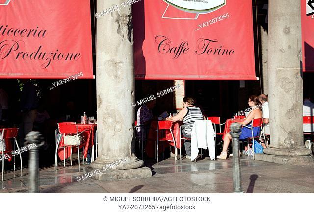 Arcade in Via Roma in Cagliari - Sardinia