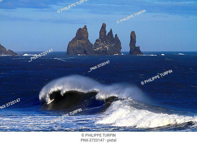 Iceland, Vik, Reynisfjara beach
