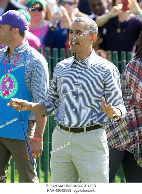 United States President Barack Obama participates in the White House Easter Egg Roll on the South Lawn of the White House in Washington, D.C