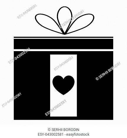Present icon icon black color vector illustration isolated
