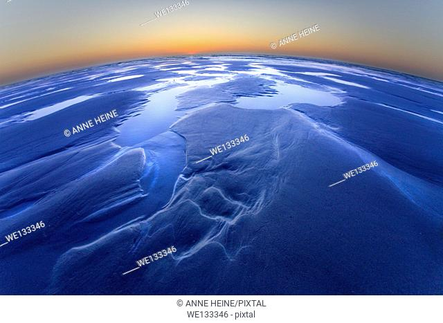 blue earth, curved horizon