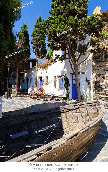 Port lligat village. Cadaques town. Costa Brava, Girona. Catalonia, Spain