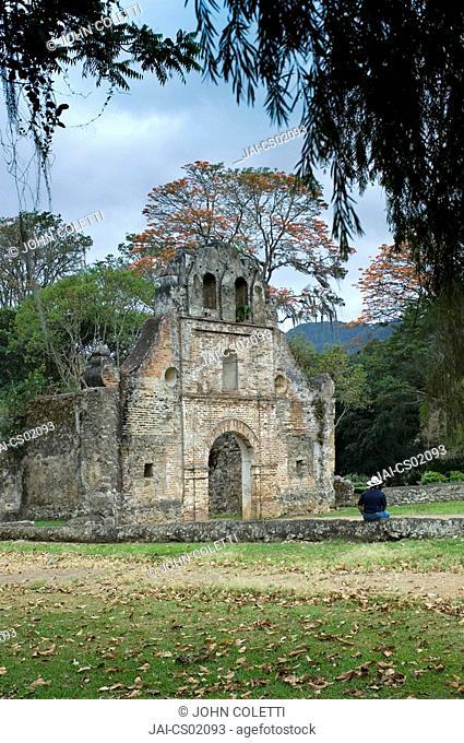 Costa Rica, Ujarras, Province of Cartago, Ruins of the Church of Ujarras, 1693 Iglesia de Nuestra Senora Ruins, Orosi Valley, Spanish Colonial Architecture