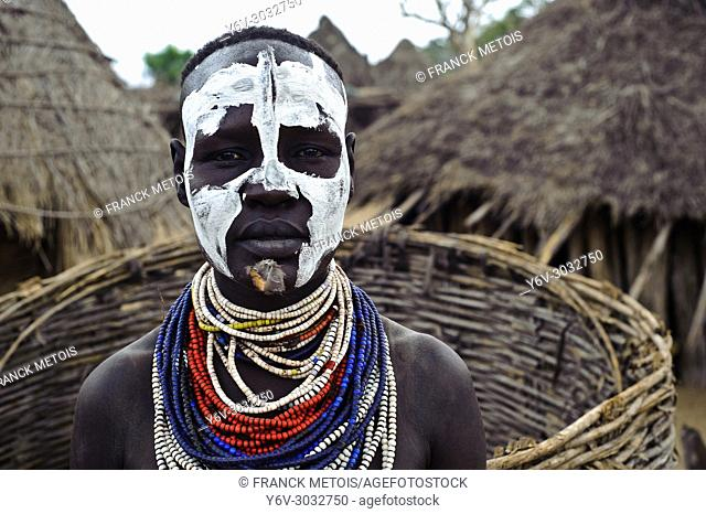 Woman belonging to the Karo tribe ( Omo valley, Ethiopia)