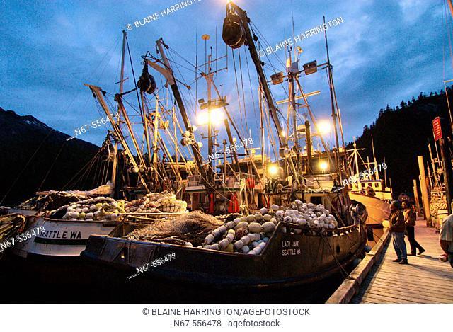 Fishing boats, Baranof Warm Springs, Baranof Island, Southeast Alaska