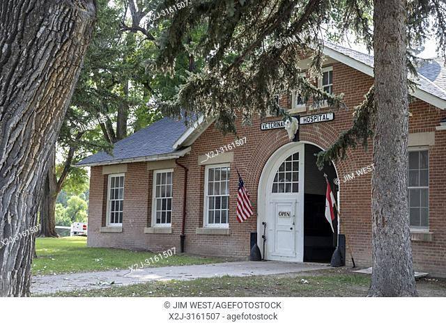 Crawford, Nebraska - The Veterinary Hospital at Fort Robinson State Park. Fort Robinson is a former U. S. Army outpost which played a major role in the Indian...