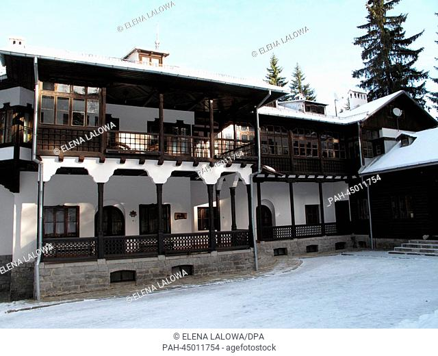 Zarska Bistriza Royal Palace in the Rila Mountains in Bulgaria, 01 December 2013. Former King Simeon II received the palace and surrounding forests back from...