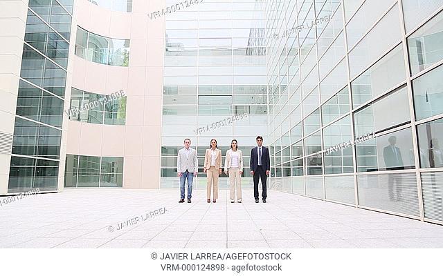 Executives walking towards the camera, office building, Business, San Sebastian Technology Park, Donostia, San Sebastian, Gipuzkoa, Basque Country, Spain
