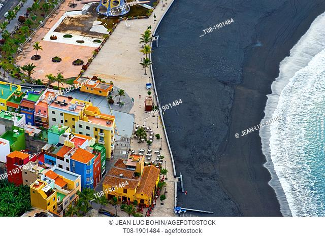 canary islands, la palma : Tazacorte Beach
