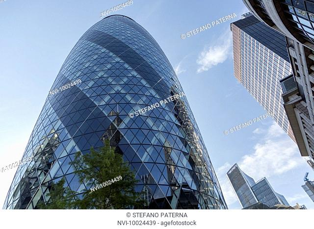 30 St Mary Axe, The Gherkin, Financial District, City of London, United Kingdom