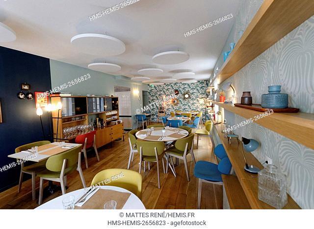 France, Moselle, Metz, Maison Baci restaurant, 21-23, place Saint-Louis