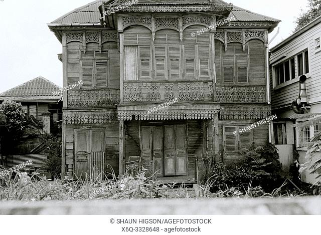 Traditional architecture of the Windsor House in Bangkok in Thailand in Southeast Asia Far East