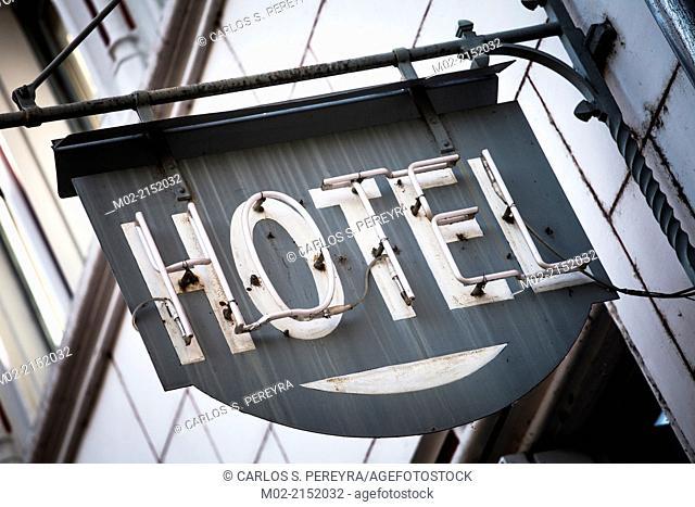 hotel sign in Lyon, France