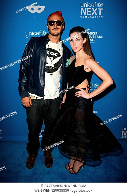 4th Annual UNICEF Masquerade Ball Featuring: Lyndon Smith, Guest Where: Los Angeles, California, United States When: 28 Oct 2016 Credit: FayesVision/WENN
