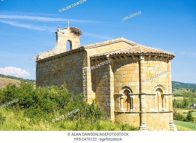 Santa Eulalia church near Santa Maria village near Aguilar de Campoo, Palencia province, Castile and Leon, Spain