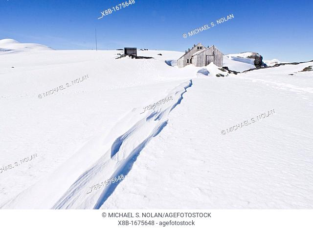 Scenes from the abandoned Antarctic research British Base 'W' on Detaille Island, Lallemand Fjord, Loubet Coast, Antarctica