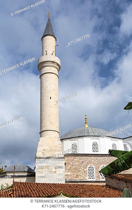 A mosque minaret in Kusadasi, Turkey, Eurasia