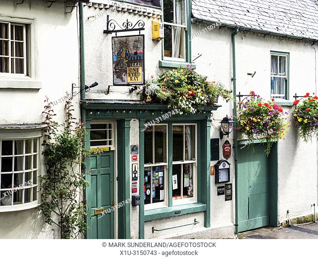 The One Eyed Rat pub on Allhallowgate in Ripon Yorkshire England