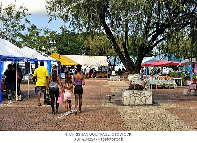 market of Sainte-Rose, Basse-Terre, Guadeloupe, overseas region of France, Leewards Islands, Lesser Antilles, Caribbean