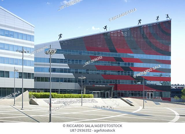 Italy, Lombardy, Milan, Portello District, Main Offices of Milan Football Club