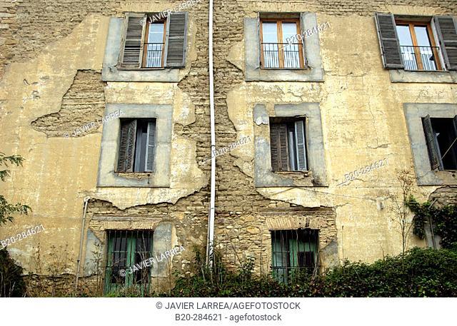 Abandoned old building. Ikastola ('school') Irun Berri, Lumbier. Navarra. Spain