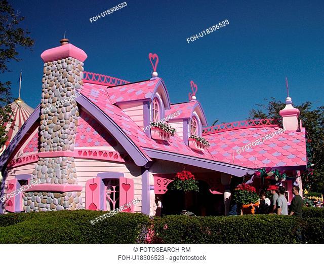 Orlando, FL, Florida, Walt Disney World Resort, Magic Kingdom Park, Mickey's Toontown Fair, house (Editorial Use Only)