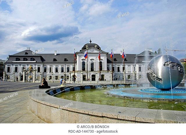 Palace of president Bratislava Slovakia Grassalkovic Palais Grasalkowicz-Palace