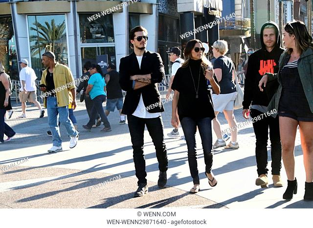 Jana Kramer and Gleb Savchenko seen at Universal Studios where they were interviewed by Mario Lopez for television show 'Extra' Featuring: Jana Kramer
