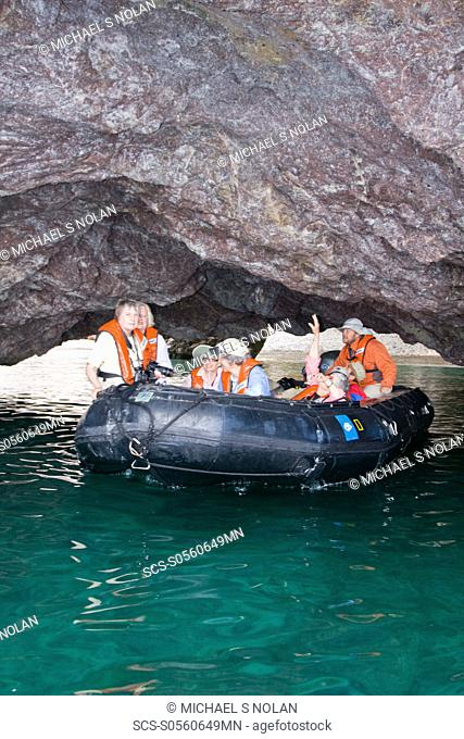 Guests from the Lindblad Expedition ship National Geographic Sea Lion doing various things in and around the Baja Peninsula in the spring months No property or...