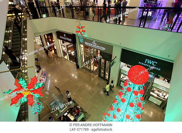 Christmas tree, Greenbelt 5 shopping mall in Makati, Manila, Makati City, Manila, Luzon Island, Philippines