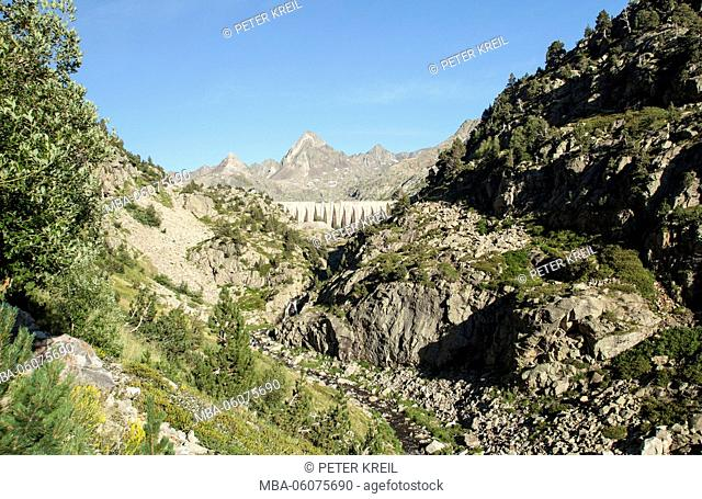 Dam, Spain, the Pyrenees, Pirineos, mountain, landscape
