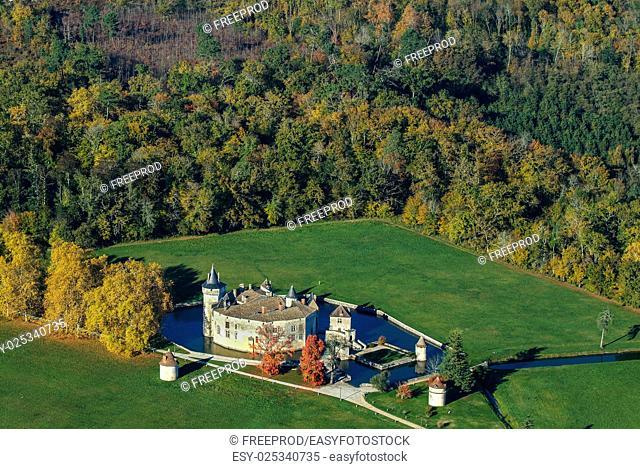 Castle, Chateau de la Brede, Gironde, France, Europe