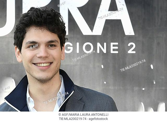 Eduardo Valdarnini during photocall of the second season of Italian fiction 'Suburra', Rome 20-02-2019