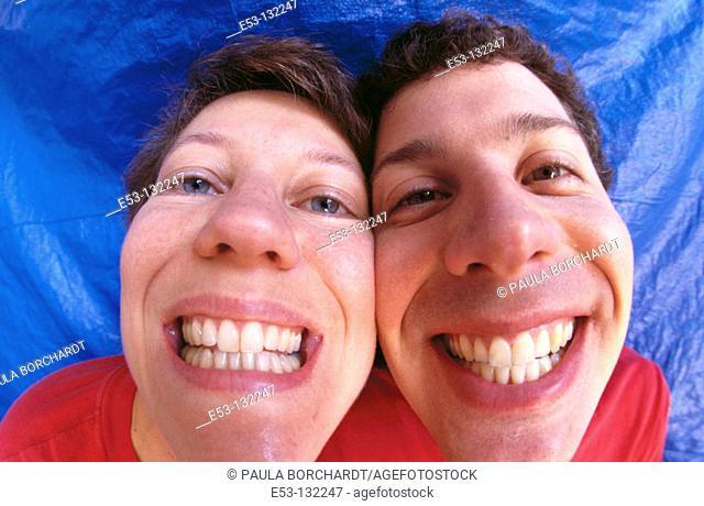 Funny portrait of couple
