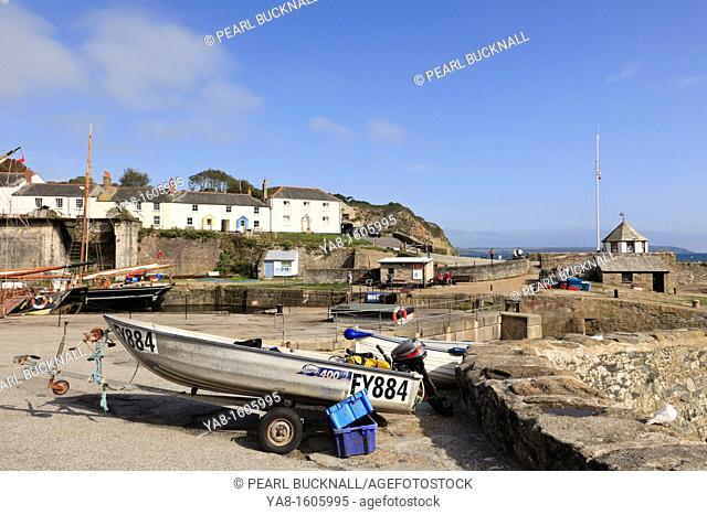 Charlestown, Cornwall, England, UK, Great Britain, Europe  Coastal village scene near the fishing harbour