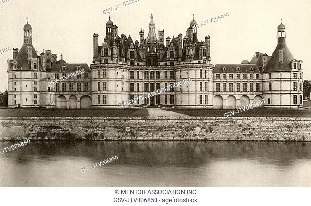 Chateau de Chambord, Chambord, France, circa 1913