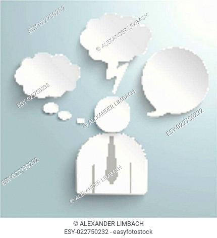 Paper Human Speech and Thought Bubbles