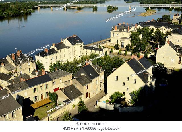 France, Maine et loire, Loire Valleylisted as World Heritage by UNESCO, Saumur along the Loire river
