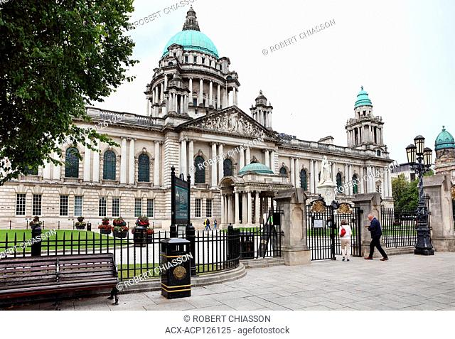 North facade of Belfast City Hall in Donegall Square, Belfast, Northern Ireland