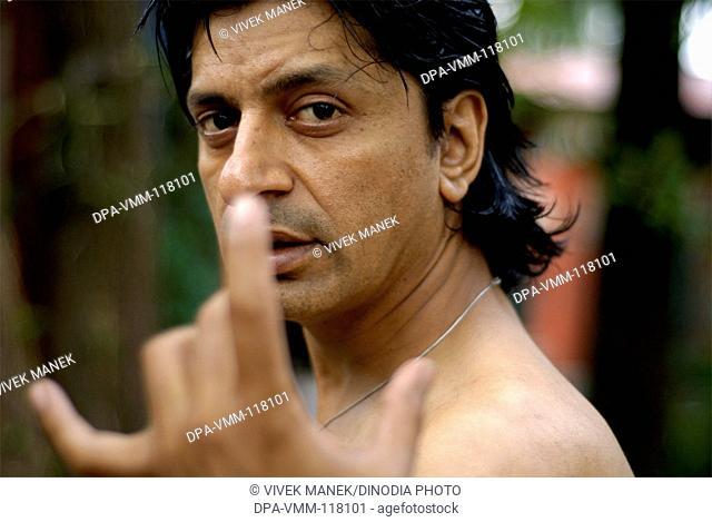 Portrait of  theatre activist Alok Ulfat at Nanhi Dunya ; Dehradun ; Uttaranchal ; India MR711